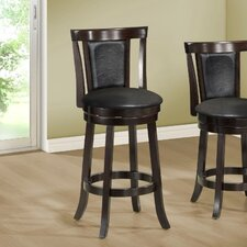 "43"" Swivel Bar Stool with Cushion (Set of 2)"