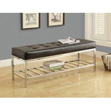 Leather and Metal Bench