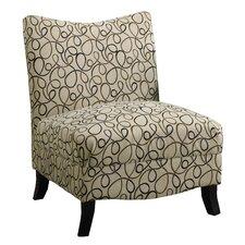 Swirl Fabric Slipper Chair