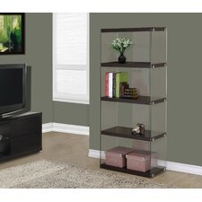 """Hollow-Core / Tempered Glass 60"""" Bookcase"""