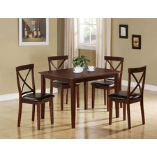 <strong>Monarch Specialties Inc.</strong> 5 Piece Dining Set in Dark Cappuccino