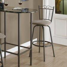"29"" Swivel Barstool with Scroll Motif (Set of 2)"