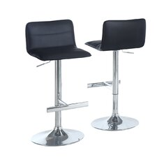 <strong>Monarch Specialties Inc.</strong> Adjustable Bar Stool with Cushion (Set of 2)