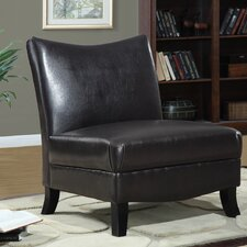 <strong>Monarch Specialties Inc.</strong> Leather Slipper Chair