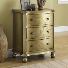 <strong>Monarch Specialties Inc.</strong> 3 Drawer Bombay Chest