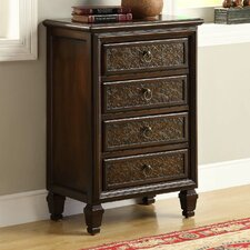 <strong>Monarch Specialties Inc.</strong> 4 Drawer Bombay Chest