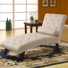 <strong>Monarch Specialties Inc.</strong> Velvet Chaise Lounge