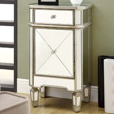 Mirrored 1 Drawer Accent Cabinet