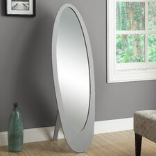 <strong>Monarch Specialties Inc.</strong> Contemporary Oval Cheval Mirror