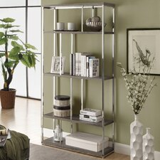 Reclaimed-Look / Metal Bookcase
