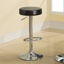 "<strong>Monarch Specialties Inc.</strong> 24.5"" Adjustable Swivel Bar Stool with Cushion (Set of 2)"