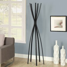 Satin Metal Contemporary Coat Rack
