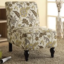 Floral Traditional Slipper Chair