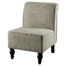 Vintage French Fabric Traditional Slipper Chair