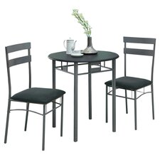 <strong>Monarch Specialties Inc.</strong> 3 Piece Dining Set