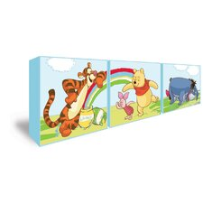 3 Piece Winnie The Pooh Box Wall Art