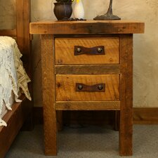 Black Mountain 2 Drawer Nightstand
