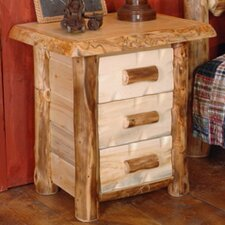 Silver Creek Three Drawer Nightstand