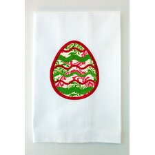 Egyptian Cotton Huck Holiday Applique Easter Egg Hand Towel