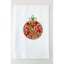 Egyptian Cotton Huck Holiday Applique Ornament Hand Towel