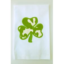 Egyptian Cotton Huck Holiday Applique Shamrock Hand Towel