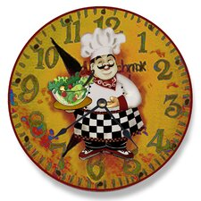 "Home Décor 12"" Italian Chef Wall Clock"