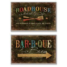 <strong>Stupell Industries</strong> Home Décor Roadhouse Grill BBQ and Brew Duo Wall Plaque