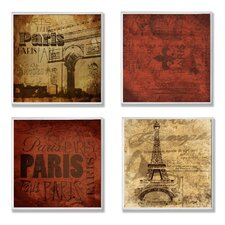 Home 4 Piece Décor Paris This Paris That Wall Plaque Set