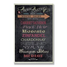 Home Décor Wine Tasting Typography Chalkboard Look Kitchen Textual Art Plaque