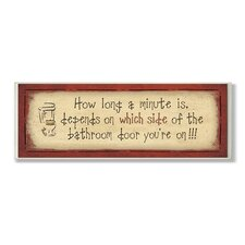 Home Décor How Long a Minute Is Rectangle Bath Textual Art Plaque