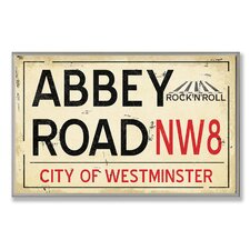 <strong>Stupell Industries</strong> Home Décor Abbey Road NW8 Railroad Wall Plaque