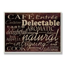 Home Décor Cafe Entree Kitchen Typography Textual Art Plaque