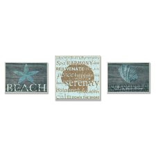 Home Décor Beach is Better Trio 3 Piece Textual Art Plaque