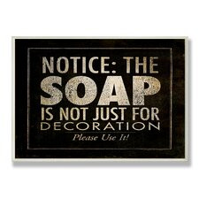 Home Décor Notice: The Soap Bath Textual Art Plaque