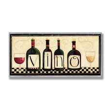 Home Décor Vino Graphic Art Plaque