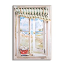 <strong>Stupell Industries</strong> Seascape Wooden Faux Window Scene
