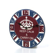 """12"""" Keep Calm and Carry On Wall Clock"""