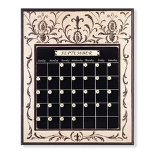 Black and Cream Magnetic Tile Perpetual Calendar