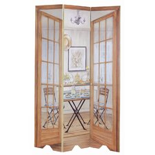 "72"" x 48"" Dining Area 3 Panel Room Divider"