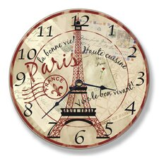 Paris Eiffel Tower Wall Clock