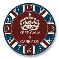 "<strong>Stupell Industries</strong> 12"" Keep Calm and Carry On Wall Clock"