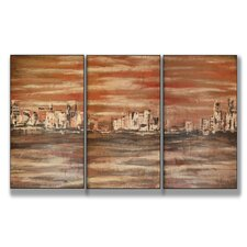 Home Décor The Waterfront Triptych 3 Piece Painting Print Set