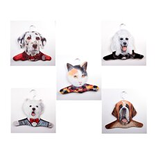 Animal Dalmation / Poodle / Calico Cat / Westie / St. Bernard Clothing Hanger (Set of 5)