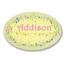 <strong>Stupell Industries</strong> Kids Room Personalization Floral Wall Plaques