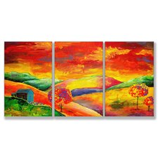 Home Décor Day Dreamer Triptych Art