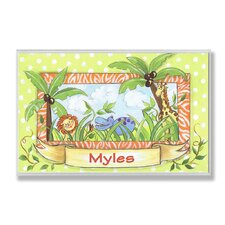 <strong>Stupell Industries</strong> Kids Room Personalization Zoo Wall Plaque