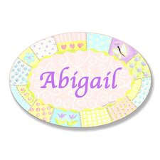 Kids Room Personalization Quilt Wall Plaque