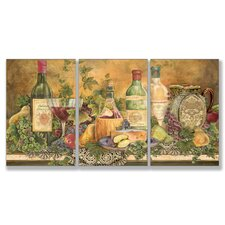 Home Décor Grapes of Tuscany 3 Piece Painting Print Set