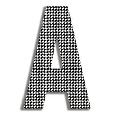 Oversized Houndstooth Letter Hanging Initials