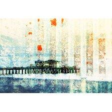 Santa Monica Pier by Parvez Taj - Art Print on Premium Canvas